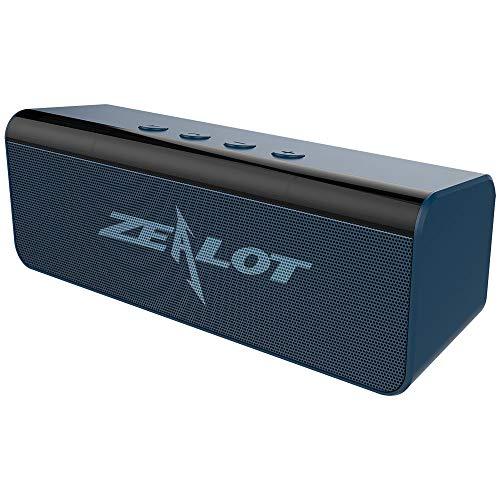Altoparlante Bluetooth Portatili,Zealot S31 Cassa Bluetooth 5.0 Speaker Wireless Stereo Suono Potente con Microfono Incorporato,10 ore di Riproduzione AUX/TF card/USB per Esterno Casa Viaggio-Blu