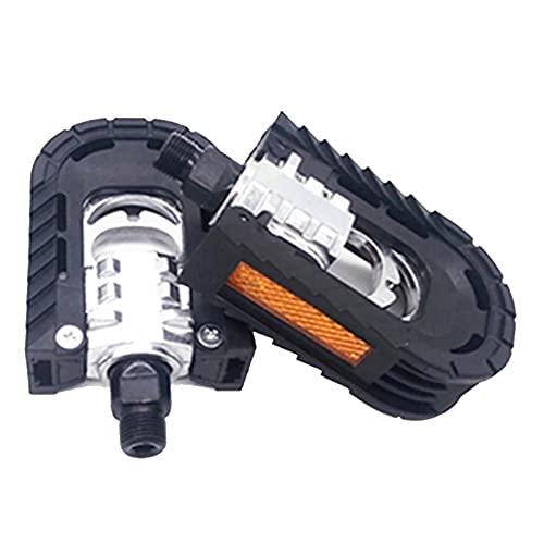 1 par de aleación de Aluminio Ciclismo Pedales de Bicicleta Resistencia y Resistencia a la corrosión Adecuado para la mayoría de Las Bicicletas 10cmx7cmx3cm (Color : Black)