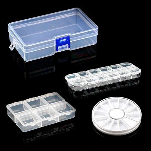 Ying Praktische schmuck aufbewahrungsbox Einstellbare Kunststofffach Aufbewahrungsbox Schmuck Ohrring Bin Fall Container Aufbewahrungsbox, 1 Satz 4 stücke