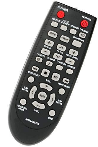Telecomando sostitutivo VINABTY AH59-02547B compatibile con soundbar Samsung HWF450ZA HWF450 PSWF450 AH68-02644D-00 HW-F450ZA HW-F450 PS-WF450