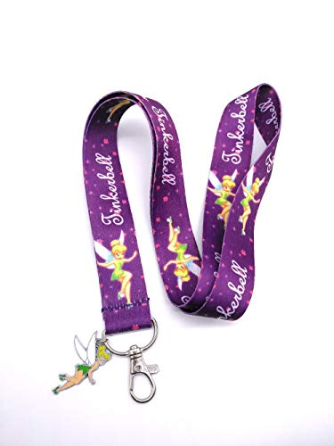 DEOLBA Retail 1 pcs Tinker Bell Pendant and Lanyard Key Chains Pendant Gifts Party Favors H03