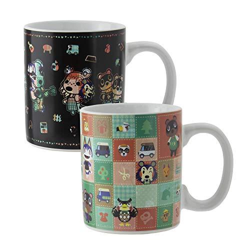 Paladone Animal Crossing Tasse mit Wärmewechsel, offizielles Lizenzprodukt, Keramik
