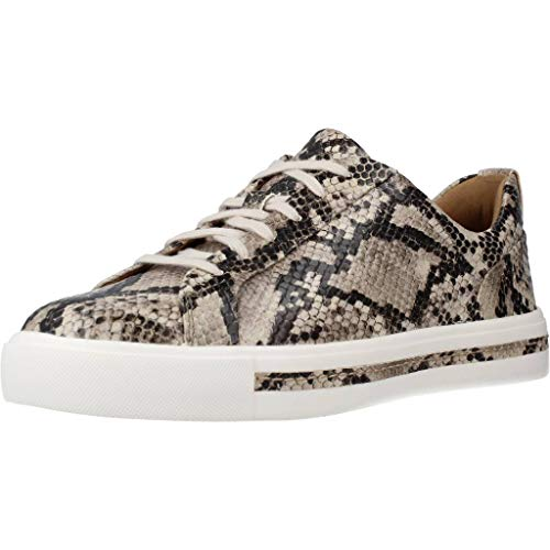 Clarks Damen Un Maui Lace Sneaker, Mehrfarbig (Natural Snake Natural Snake), 39 EU