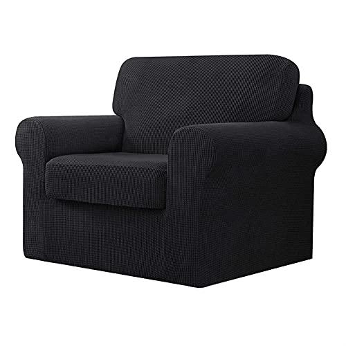 DGFDS Stretch-Jacquard-Sofabezug Mit Separaten Rückenlehnen Und Kissen, Ersatzmöbelschutz Mit Gummiband (Color : Grey, Größe : 1 Seater(80-120cm))
