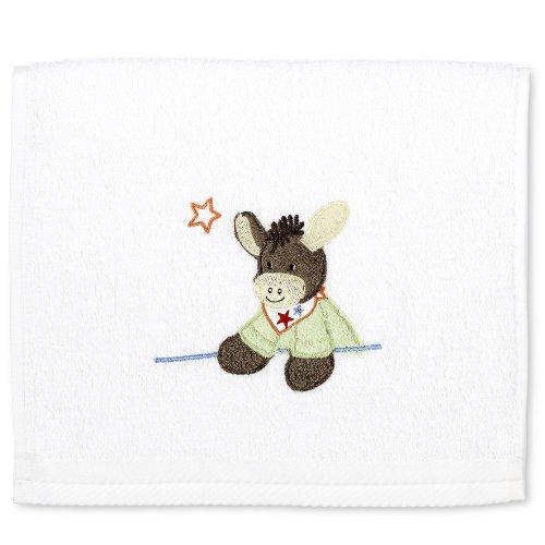 Sterntaler Toalla infantil para manos  Emmi, Edad: a partir de 0 meses, 30 x 50 cm, Blanco