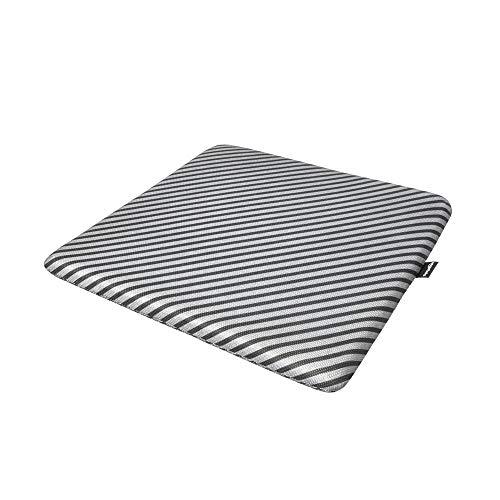 AmazonBasics - Cojín viscoelástico para asiento, con rayas, cuadrado