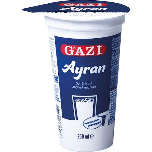Gazi Ayran - 20x 250ml - Joghurt Drink Getränk Mixgetränk Joghurt Salz 1% Elopak leckeres und gut bekömmliches Erfrischungsgetränk vegetarisch glutenfrei