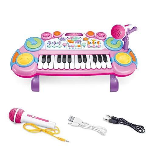 HEWE Teclado para Niños, Juguetes para Niños Pequeños De Plástico Piano Musical De Instrumentos Musicales Temprana con Micrófono, Conveniente para Los Niños Musical Instrumentos De Juguete