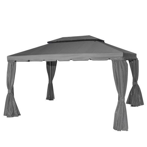 Siena Garden Pavillon Dubai, 300x400cm, Gestell: Stahl/Aluminium, pulverbeschichtet in anthrazit, Dach: Polyester, 250g/m², PU beschichtet in grau