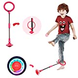 Mihlapi Kids Foldable Ankle Skip Ball Flash Jump Colorful Sports Swing Ball, Fitness Jump Rope Fat...