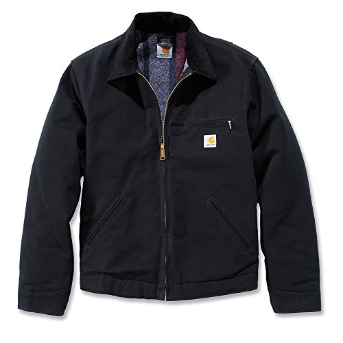 Carhartt Workwear Arbeitsjacke Duck Detroit Jacket mit Wolldeckenartigem Futter XL, schwarz, EJ001