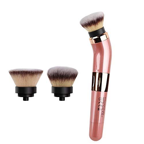 Électrique Pinceau De Maquillage,cosmétique Futé Automatique De 360 degrés De Brosse Rotatoire Blush De Kit pour Le Mélange 2 Têtes Incluses Fauay