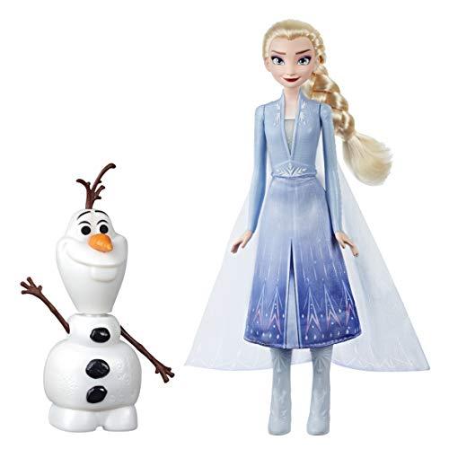 Disney Die Eiskönigin Magischer Spielspaß mit Elsa & Olaf, Hebe Elsas Arm und Olaf bewegt sich, spricht und leuchtet, Inspiriert durch den Film Disneys Die Eiskönigin 2 –Spielzeug für Kids ab 3 Jahren