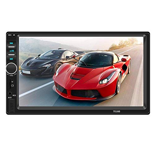 xbqyd Navigation Für Auto Navigationsgerät Autoradio Mit Navi MP5 Mp3 Player Mit Bluetooth Freisprecheinrichtung Stereo, RadioTouch-Bildschirm Kartenspieler Auto Kamera Werden 2 DIN 7
