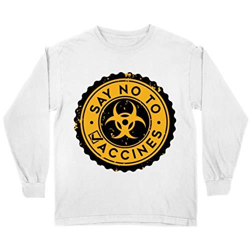 lepni.me Camiseta para Niños Di no a Las Vacunas Lema de Seguridad contra la Vacunación Obligatoria (9-11 Years Blanco Multicolor)