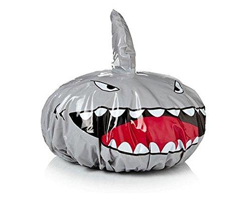 ds. distinctive style Bonnet de douche Shark Kids Shape Shower Hat Baby Bath Cap - Sliver