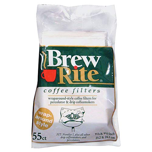 Brew Rite Wrap Around Percolator Coffee Filter 55 Ct (Pack of 2)