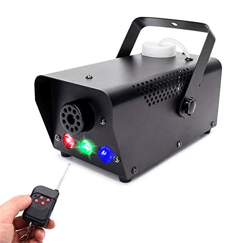 U`King Smoking Machine Fog Machine 500W Red Green Blue 3 Single Color Controls Stage Equipment Wireless Remote Control Foger Fast Small Stage Party Disco Performance Theater Bar Stage