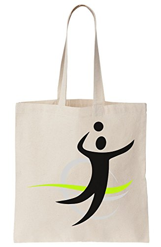 graphke Volleyball Stickman Canvas Tote Bag