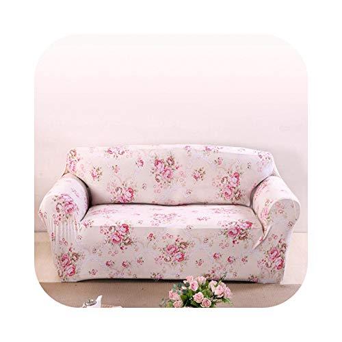 HCIUUI Pink Flowers Couch Sofa Cover für Living Room Spandex Corner Sofa Slipcover Universal Stretch Möbel Cover Plush-008-Four Sitzbezug
