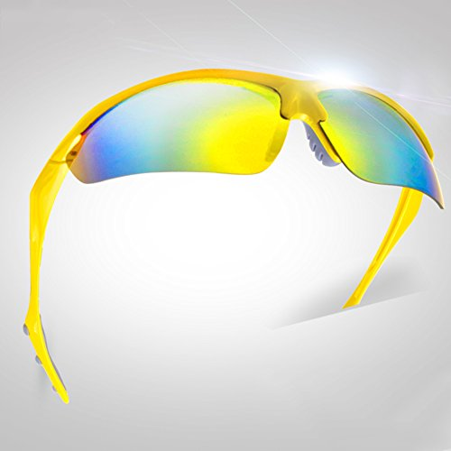 Sunny Honey Lunettes de Soleil de Sport en Plein air pour Hommes - Haute qualité - Moto VTT - Anti-Vent Unisexe