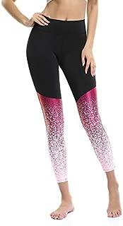 BEESCLOVER Female Yoga Leggings Elastic High Waist Leggings Pants Women Running Yoga Tight Sportswear Legging Gradient Pants Legging