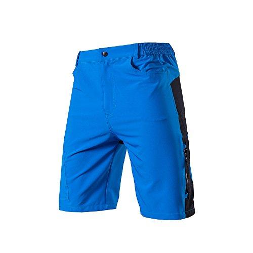 Lixada Pantalones Cortos de Ciclo Holgados de Hombres, Transpirables Sueltos, para MTB de los Deportes al Aire Libre