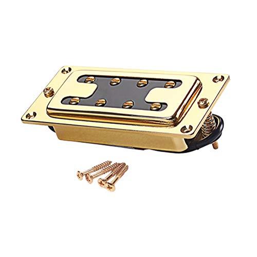 Healifty 15mm Gitarre Pickups Doppelspule Neck Bridge Humbucker 4 String für LP E-Gitarre Zubehör Teile (Golden)