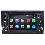 Lettore audio per auto Android 10 per Audi A4 B6 e B7 (8E / 8H) / S4 B6 e B7 (8E / 8H) / RS4 / RS4 B7 (8E) / Seat Exeo, autoradio Double Din con touchscreen da 7 pollici collegamento Bluetooth WiFi