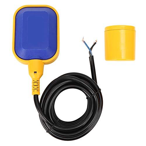 BERM Schwimmerschalter Wärmebeständigkeit FQ2 Wasserstandssensor Automatischer Kabelwasserstandsregler für Tank, Pumpe(5M)