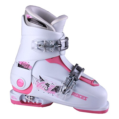 Roces 2016 Idea Adjustable White/Deep Pink Kids Ski Boots 19.0-22.0