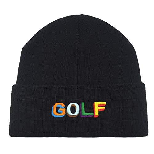 zhangjunlin Golf Skull Cap Knitting Hat Beanie Cap Warm Winter Knit Hat Embroidered Hat