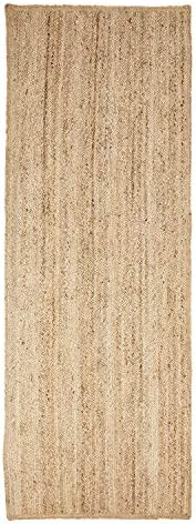 SUPERIOR Natural Braided Collection Hand Woven Jute Rug 2 6 X 8 Runner product image