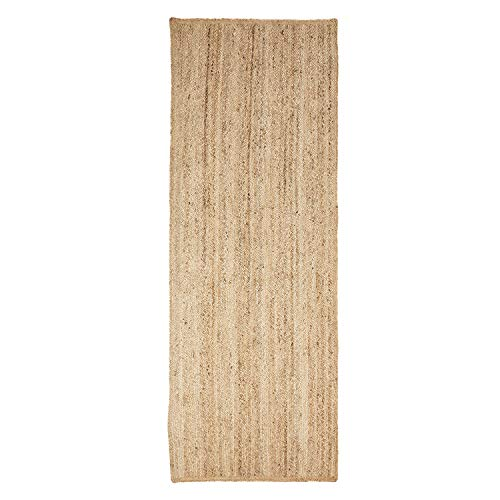 SUPERIOR Natural Braided Collection Hand Woven Jute Rug, 2