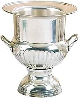 Deco 79 Brass Sp Wine Bucket, Silver Plated