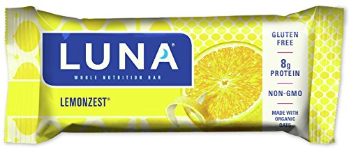 LUNA BAR - Gluten Free Snack Bars - Lemon Zest Flavor - (1.69 Ounce Snack Bar)