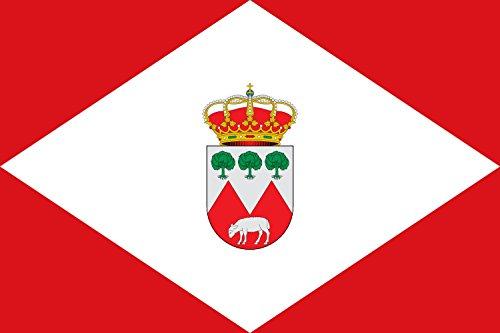 magFlags Bandera Large Cabezarrubias del Puerto, Ciudad Real, España | Bandera Paisaje | 1.35m² | 90x150cm