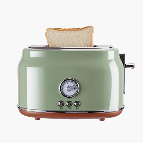 WANGYIYI Máquina de Desayuno multifunción de tostadora automática Máquina de Desayuno de 6 velocidades Ajustación de Temperatura de 6 velocidades de Acero Inoxidable 2 rebanadas Sandwich Maker