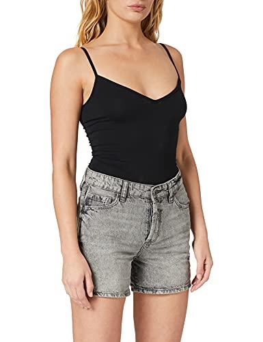 edc by ESPRIT Damen 060CC1C303 Jeans-Shorts, 912/BLACK MEDIUM WASH, 28