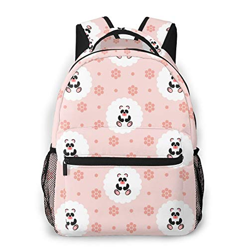 Clothes socks School Backpack Bookbag Casual Daypack Travel Laptop Backpack for Girls Women Teenagers.Panda Baby