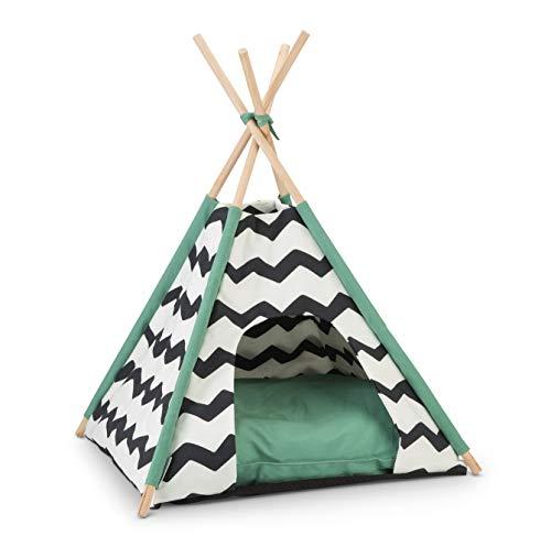 Beeztees Tipi Tent L: 50 cm B: 50 cm H: 80 cm schwarz-weiss Kioni