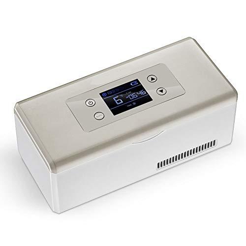 Kymzan Neveras PortáTiles De Insulina, El Enfriamiento del Refrigerador del Coche Bolsas De CongelacióN Dimensiona 22 X 10 X 9 Cm, con Cable De Carga USB para AutomóVil/Viajes/Aeronave.