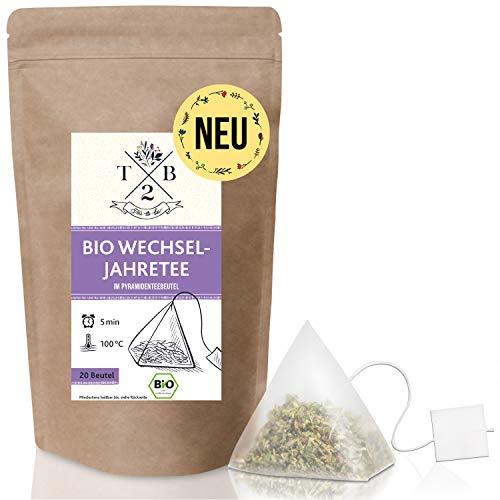 Bio Wechseljahre Tee im Teebeutel (20 Stück), zur Menopause mit Frauenmantel und Rotklee – Tea2Be