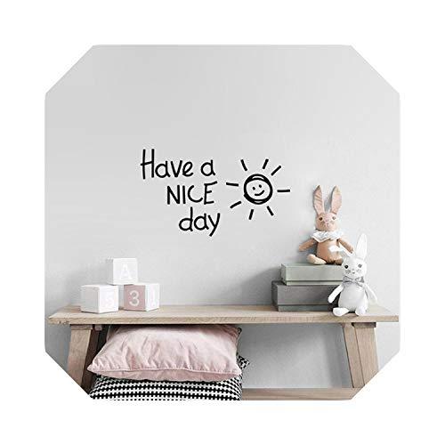 Für Schlafzimmer Wohnen | Haben Sie einen schönen Tag Schöne Sonne Vinyl Wandaufkleber Wohnzimmer Schlafzimmer Home Decoration Decals Kunst Englisch Alphabet Aufkleber Wallpaper-Gold-40cm X 23cm
