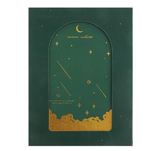 Yardwe Star Moon - Cuaderno de diario creativo y fresco, libro de práctica, libro de mano con adorable, bloc de notas de cara dura para escuela, oficina, hogar, color verde