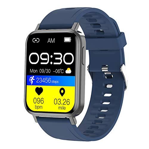 HQPCAHL Smartwatch, 1.65Inch Reloj Inteligente, Pulsera Actividad con Fitness Tracker, Medidor De Temperatura Corporal, Monitor De Sueño, IP68 Impermeable, Reloj De Fitness para Mujer Hombre,Rosado