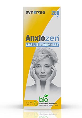 Synergia AnxioZen 200ml Anxiolytique Naturel | Aide à maîtriser votre stress et votre anxiété| Solution Buvable de Plantes Fraîches Bio Françaises: mélisse, passiflore et aubépine