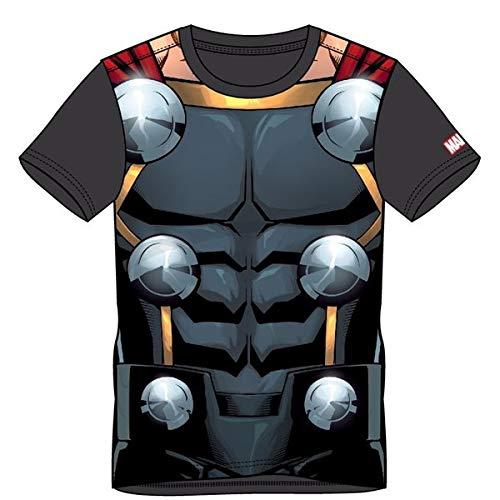 Bioworld EU Marvel Comics Thor Men's Suit Sublimation T-Shirt Camiseta, Gris (Grey Grey), L para Hombre