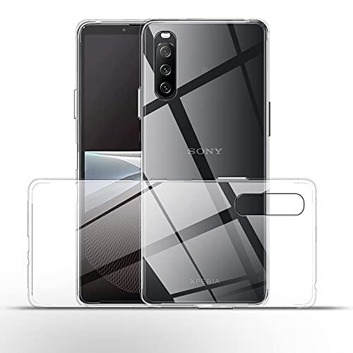 QULLOO Hülle für Sony Xperia 10 III 5G,[1 Stück] Crystal Clear Hinten Schutzhülle Ultra Dünn Stoßdämpfung Weich TPU handyhülle Anti-Kratzer Silikon Hülle für Sony Xperia 10 3