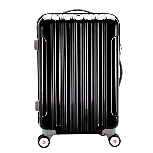 XIANGSHAN PC Waterproof Suitcase Aluminum Suitcase, Aluminum Frame Travel Trolley, Convenient Design Universal Wheel 20 Inch Black